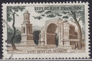 France 855 USED 1957 Roman Ruins, Saint Remy 50Fr