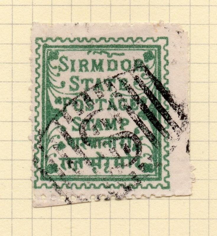 Indian States Sirmoor 1892 Early Issue Fine Used 194717