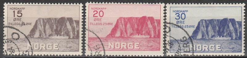 Norway #B1-3 F-VF Used CV $196.00 (A17074)