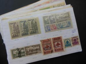 LEBANON : Large grouping on Old Time approval pages all from Independent Era.