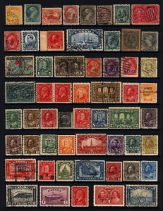 Canada #15-#273 1859-1946 19th & 20th Century Lot M&U 56 items