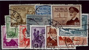 Norway SC#279-289 Used set Fine...Worth a Close Look!