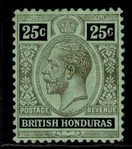 BRITISH HONDURAS GV SG106b, 25c black-blue/emerald, M MINT.