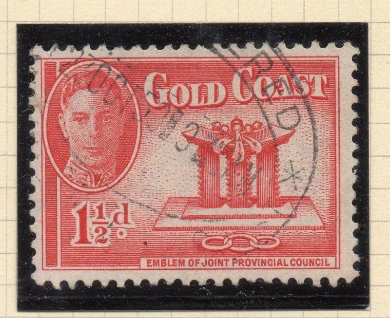 Gold Coast 1950s Early GVI Issue Fine Used 1.5c. 107717