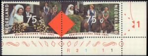 1991 Netherlands #771a, Complete Set(2), Pairs, Never Hinged