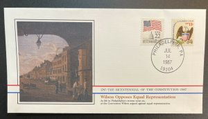 US #1596,2115 Used on Cover - Bicentennial of Constitution 1787-1987 [BIC15]