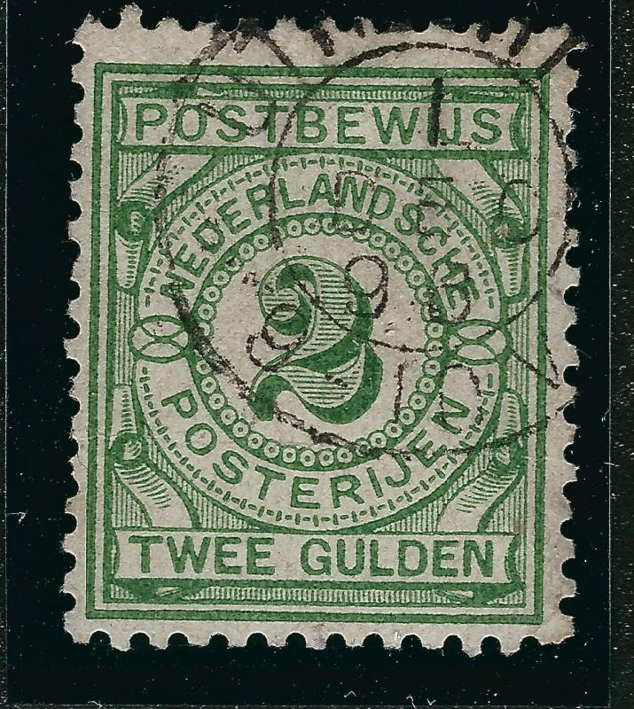Netherlands #PW3 Postbewijs F-VF Used Cat $112.50..Make an offer...tough stamp!