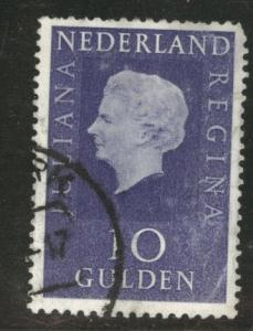 Netherlands Scott 474 used 10 Gulden stamp