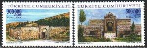 Turkey. 2001. 3293-94. Caravanserais, architecture. MNH.