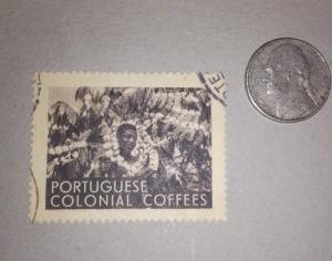 Hard to Find Portuguese Colonial Coffees Advertising Stamp