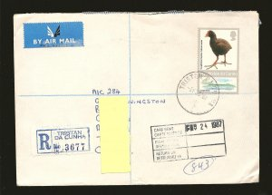 Tristan da Cunha Postmark 1987 Registered Cover to Canada Used