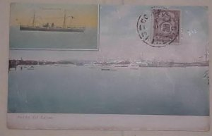 PERU  POSTAGE DUE USED FOR POSTAGE CALLEO 1906