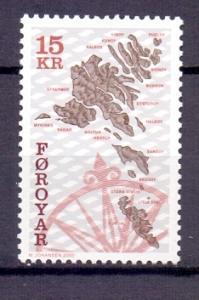 Faroe islands  2000  MNH  maps  15k    #