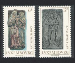Luxembourg Renaissance Art 2v SG#973-974 SC#591-592