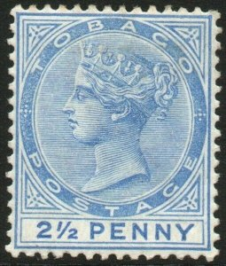 TOBAGO-1882-84 2½d Bright Blue Sg 16a MOUNTED MINT V48455