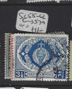 PAKISTAN (PP3007B)  SG  55-62  LESS 57A          VFU