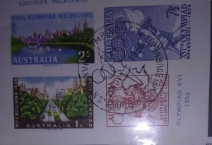 Australia Melbourne Stamp Expedition of 1956 (first daqy cancel)