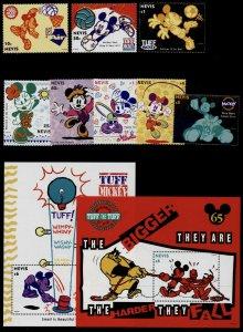 Nevis 829-38 MNH Disney, Mickey playing sports, Minnie Mouse