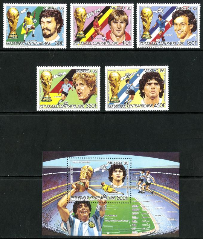 CENTRAL AFRICA 812-817 MNH SCV $16.00 BIN $9.50 OLYMPICS