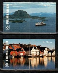 Norway Scott 1092b-93b Mint NH booklets (Catalog Value $30.00)