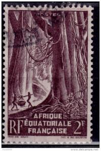 Afrique Equatoriale Francaise AEF, 1951, 2f, used
