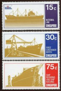 Singapore - Sc # 126 - 128  Complete Set.  MNH. 2017 SCV $21.00