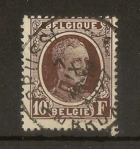 Belgium 1927 10fr SG373 Fine Used Cat£14