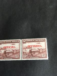 Scott #O20 Mint VF-H Cat. $40. 1945 1 and a Half Pence Train & Plane Official