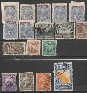 Ecudaor Used & Mint OGH Officials,General Issues & Air Mail