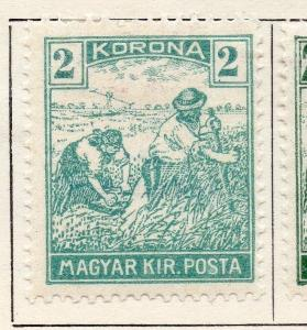 Hungary 1920 Early Issue Fine Mint Hinged 2kr. 134039