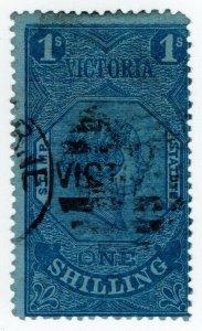 (I.B) Australia - Victoria Revenue : Stamp Statute 1/- (sideways watermark)