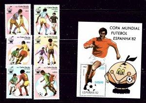 Cape Verde 446-52 MNH 1982 Soccer complete set