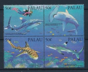 [35233] Palau 1993 Marine Life Sharks Diving MNH