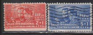CUBA Scott # B1-2 Used - Semi-Postal Stamps