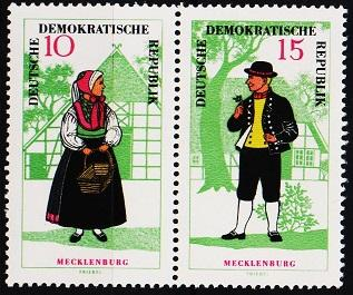 Germany(DDR). 1966 10pf/15pf(Pair)  S.G.E934/E935 Unmounted Mint