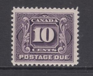 Canada Sc J5 MLH. 1906 10c violet Postage Due, F-VF