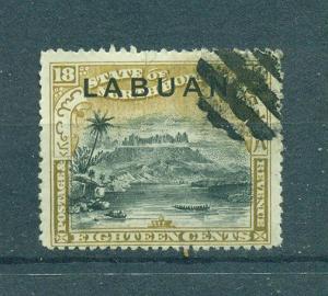 Labuan sc# 86a used cat value $3.25