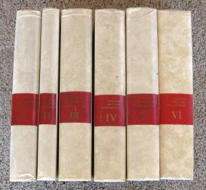 A Magyar Belyeg Monográfiája, by Kostyan Ákos. 6 volume complete set, HB.