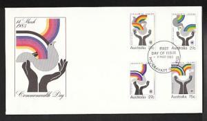 Australia 864-867 Commonwealth Day 1983 U/A FDC