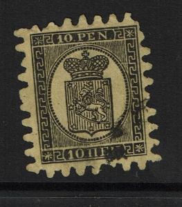 Finland SC# 8, Used, Few Missing Teeth - Lot 100117