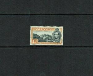 Ascension Is : 1938, 1d black & yellow/orange, Perf. 13.5, SG39a Mint