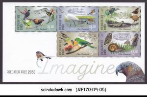 NEW ZEALAND - 2018 IMAGINE PREDATOR FREE 2050 / BIRDS MIN/SHT MNH