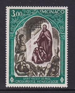 Monaco  #812   MNH  1971  Red Cross Monaco St Vincent de Paul