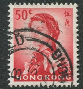 Hong Kong - Scott 210 - QEII - Definitive - 1962 - FU - Single 50c Stamp