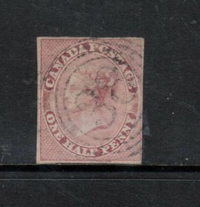 Canada #8 Used Fine With Ideal 4 Ring 38 St Catherines ONT Cancel