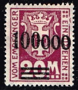 GERMANY STAMP DANZIG POSTAGE DUE STAMPS COLLECTION LOT  #5 PLATE ERROR UR