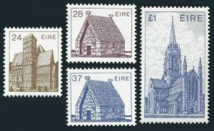 Ireland 638-639,641,644,MNH.Michel 571-574. 1985.Architecture.Church,Chapel,