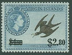Virgin Islands SC# 139 (SG# 173) Man-O-War Bird, $2.80, MH