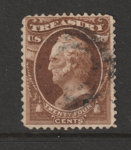 USA a used old Treasury Official 24c