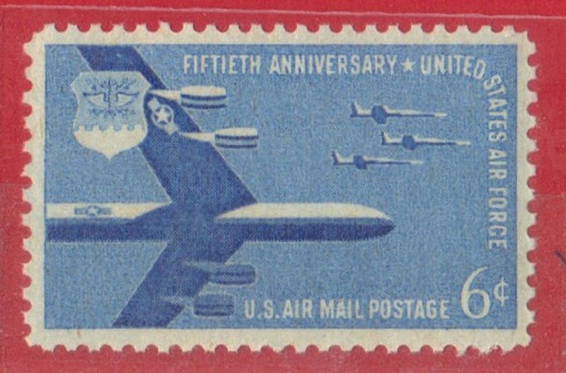 USA  SCOTT #C49  MNH 1957  6c AIRMAIL  SEE SCAN